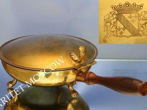 РЕДКОСТЬ Антикварное блюдо лев бронза латунь 1 | Ярмарка Мастеров - ручная работа, handmade