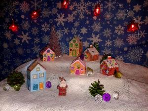 Создаем из бумаги новогоднюю деревеньку. Ярмарка Мастеров - ручная работа, handmade.