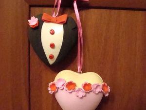 Валентинка своими руками: делаем подвеску «Сердечная пара» из фоамирана. Ярмарка Мастеров - ручная работа, handmade.