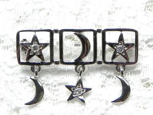 Видео. Серебряная брошь Ночное небо, Danecraft, США. Ярмарка Мастеров - ручная работа, handmade.