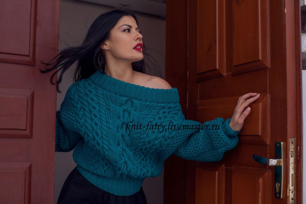 свитер рубан, стильный свитер, кардиган оверсайз, вязаный свитер