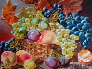 Видеообзор картины Голландский фруктовый натюрморт. Ярмарка Мастеров - ручная работа, handmade.