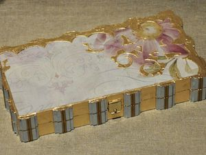 Декорирование «золотой» шкатулки-купюрницы. Ярмарка Мастеров - ручная работа, handmade.