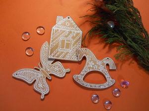 Создаем «пряничные» игрушки на елку. Ярмарка Мастеров - ручная работа, handmade.