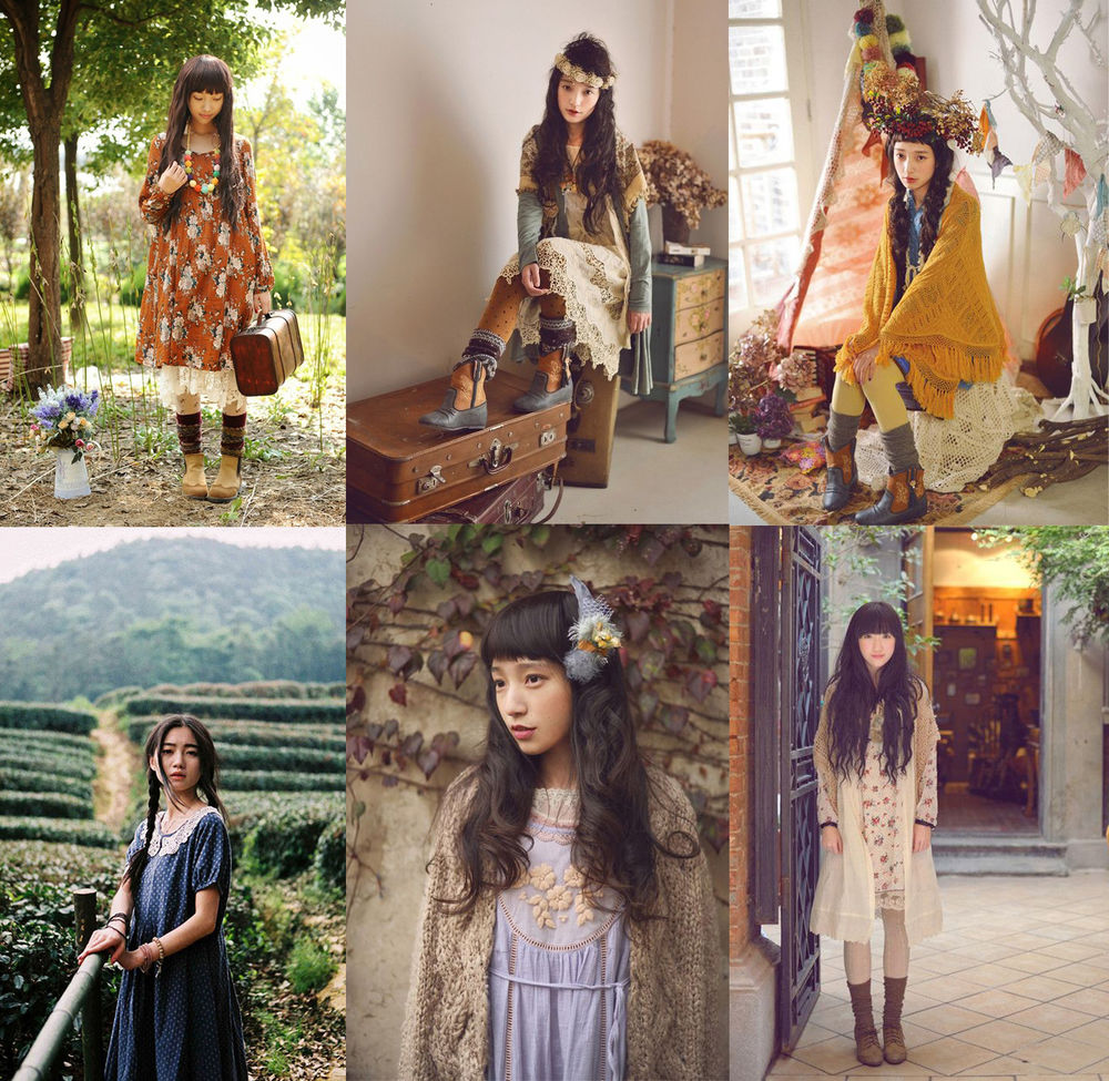 Japanese Street Fashion: Mori and Dark Mori Kei — Girls from Forests, фото № 10