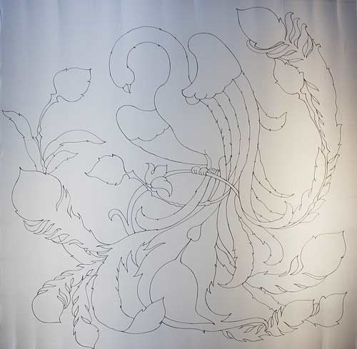 роспись ткани