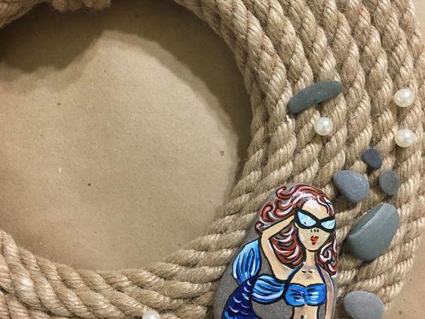 Мастерим декоративный венок на дверь в морском стиле | Ярмарка Мастеров - ручная работа, handmade