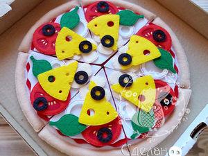 Пицца из фетра — развивающая игра. Ярмарка Мастеров - ручная работа, handmade.