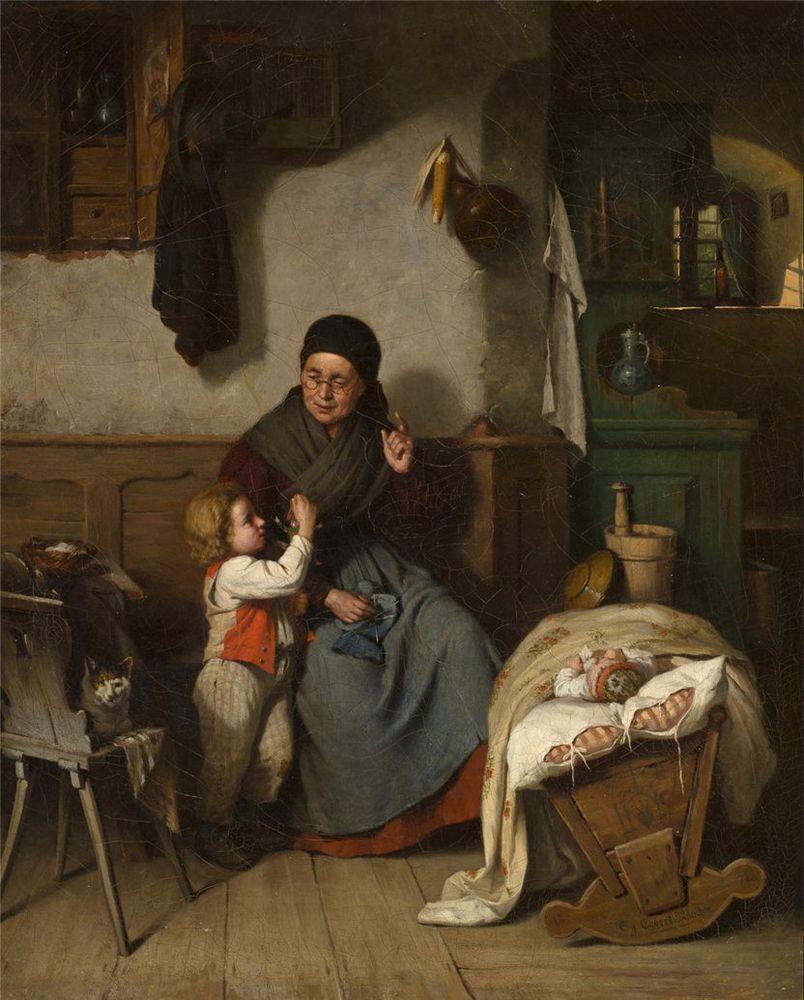 Когда есть чем заняться — стареть некогда: душевные картины о бабушках-рукодельницах, фото № 51