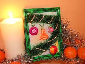 Вышивка «живой» новогодней картины. Ярмарка Мастеров - ручная работа, handmade.