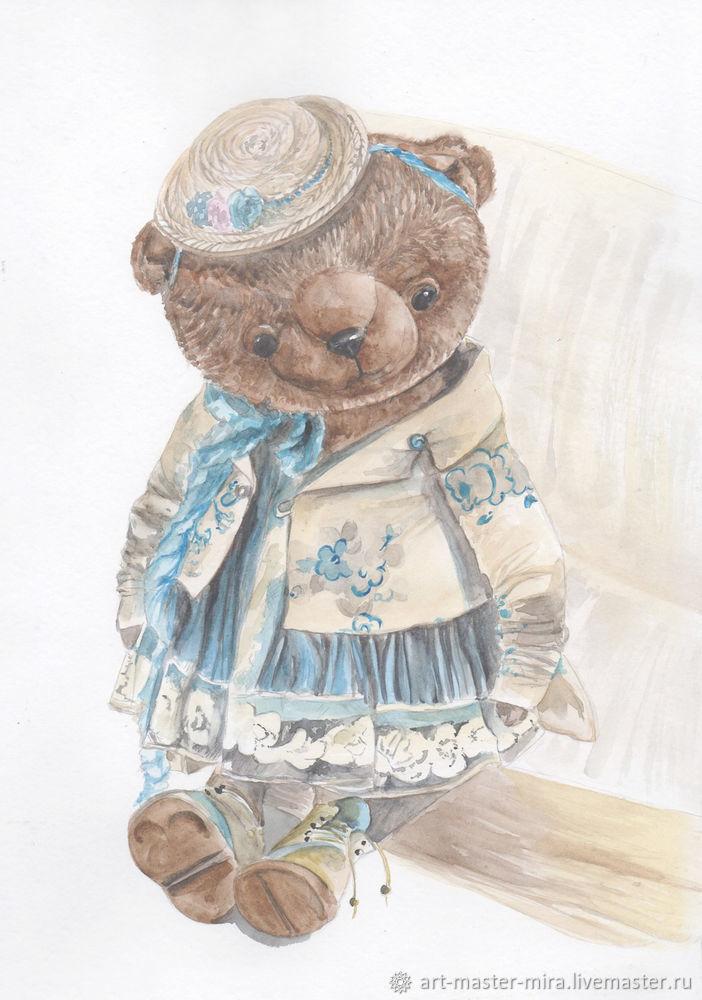 Как нарисовать мишку Тедди акварелью, фото № 10