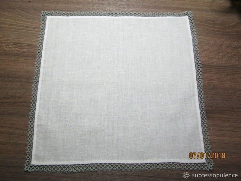 Making Handkerchiefs with Tatting Lace, фото № 21