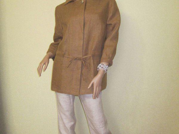 Жакет женский из льна   Ярмарка Мастеров - ручная работа, handmade