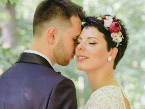 Нежная невеста в ободке