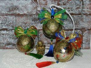 Мастерим новогодний шар «Царство золота». Ярмарка Мастеров - ручная работа, handmade.