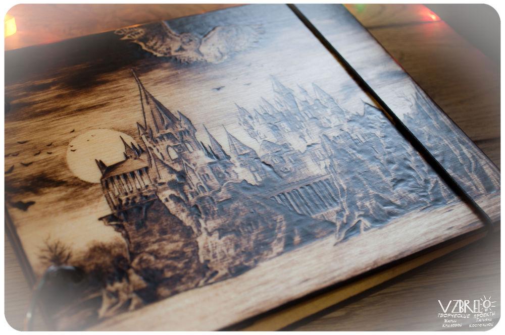 деревянный блокнот, блокнот из дерева, выжигание по дереву