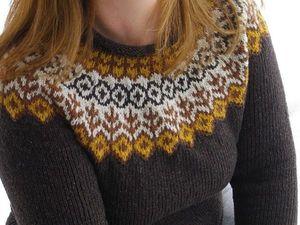 Скандинавский свитер: простота кроя и особый узор. Ярмарка Мастеров - ручная работа, handmade.