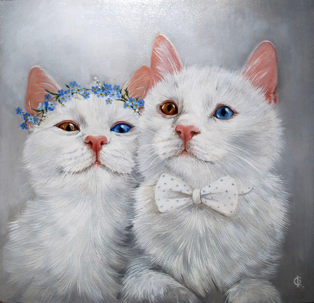 выставка-продажа, картины с котиками, купить картину, art for heart