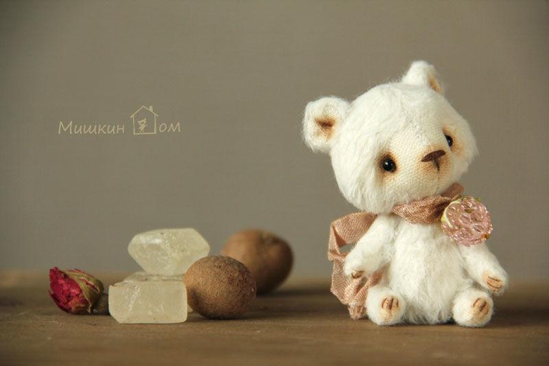 мишки тедди, белый, малина