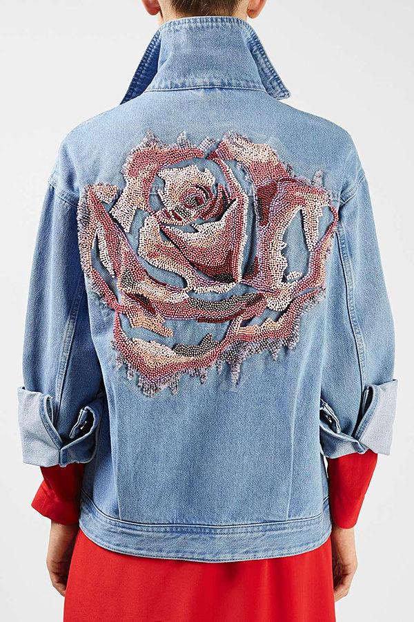 Многообразный декор джинсовых курток: 50 интересных вариантов, фото № 31