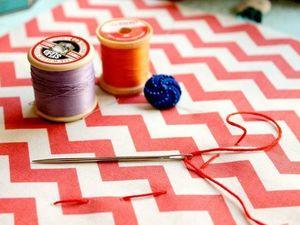 Полка с тканями: клетка, полоска, горошек. Ярмарка Мастеров - ручная работа, handmade.