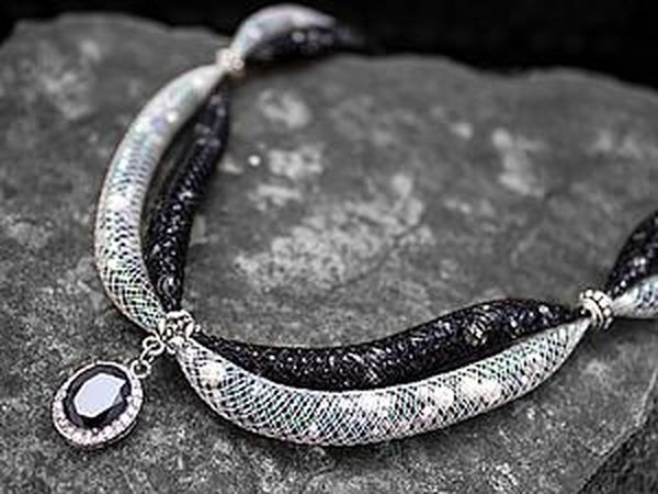 How to Create a Gorgeous Necklace from Jewelry Mesh | Livemaster - handmade
