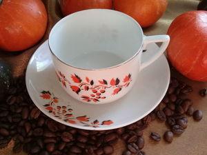 Чашка с блюдцем. Старые Вербилки. Ярмарка Мастеров - ручная работа, handmade.