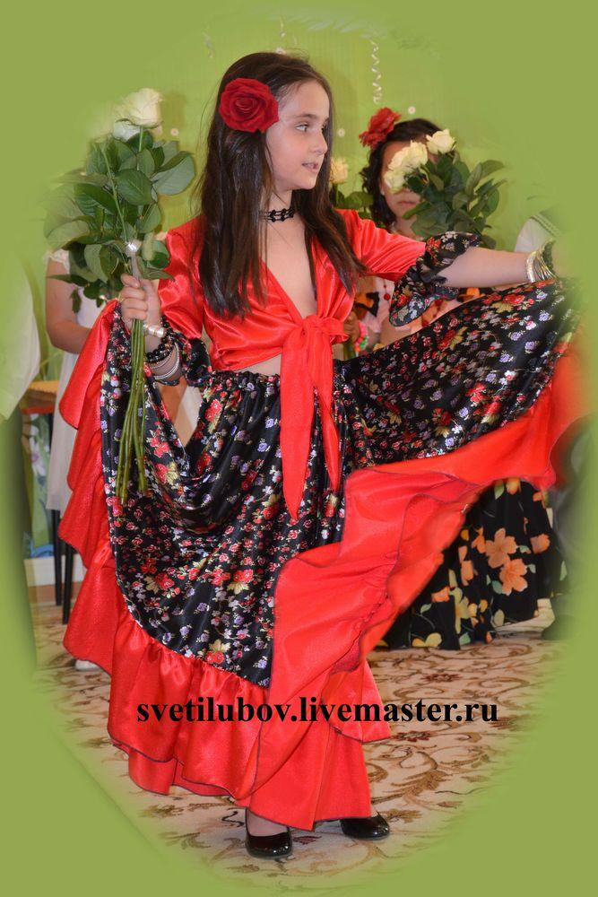 фламенко юбка, фламенкосвкие костюмы