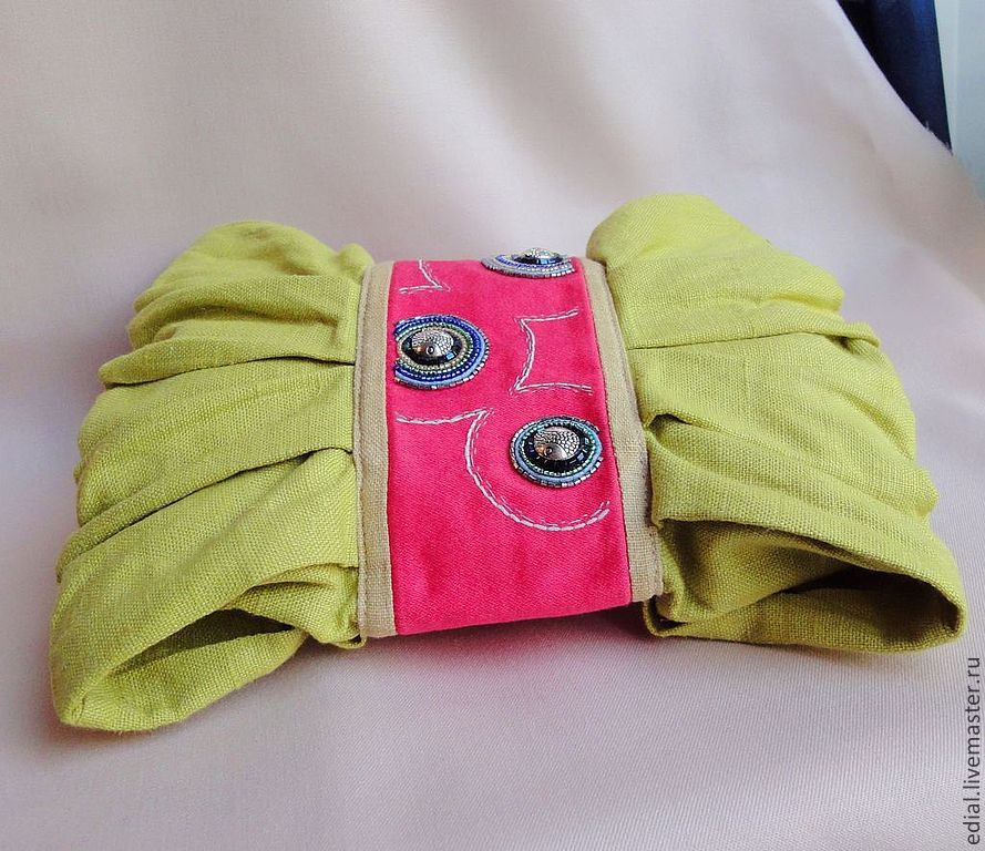 мария прокс, розыгрыш, приз, клатч, модный, сумочка, летний клатч, embroidery, bag, fashion, beadedbag, green, strawberry, клубника, бант, лен