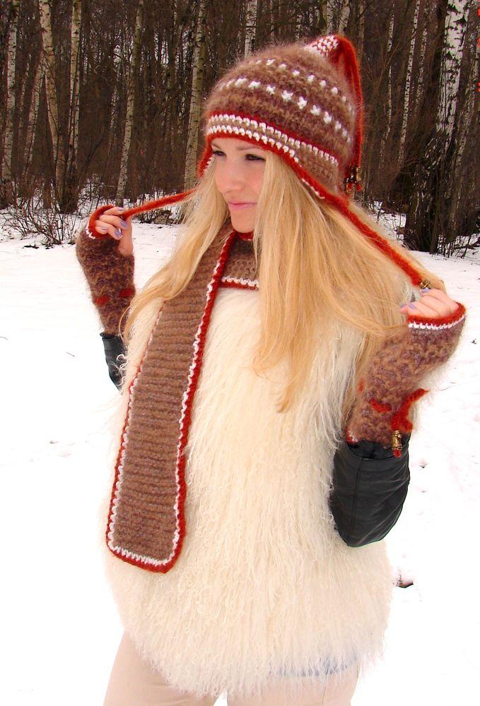 шапка зимняя шерсть