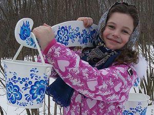Только один день 40% скидки на детское коромысло с ведёрками.. Ярмарка Мастеров - ручная работа, handmade.