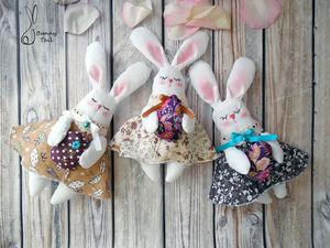 Шьем милых кроликов к Пасхе | Ярмарка Мастеров - ручная работа, handmade