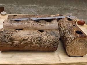 Пеньки-полешки. Карандашницы настольные из яблони, сливы, ореха грецкого. Ярмарка Мастеров - ручная работа, handmade.