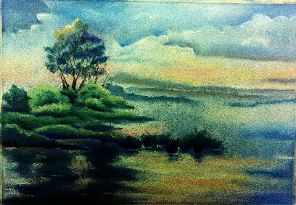 учусь рисовать, рисую пастелью, обучение живописи, рисование для начинающих