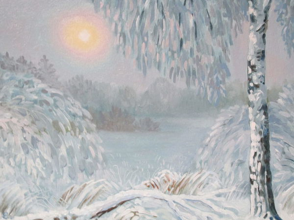 Белым снегом. | Ярмарка Мастеров - ручная работа, handmade