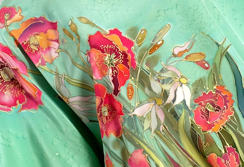 летнее платье, цветочный принт