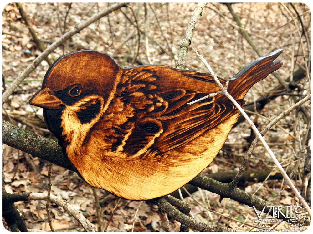птица счастья, птички, декор для дома, из фанеры, обновление витрины