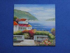 Пишем маслом миниатюру «Средиземноморье». Ярмарка Мастеров - ручная работа, handmade.