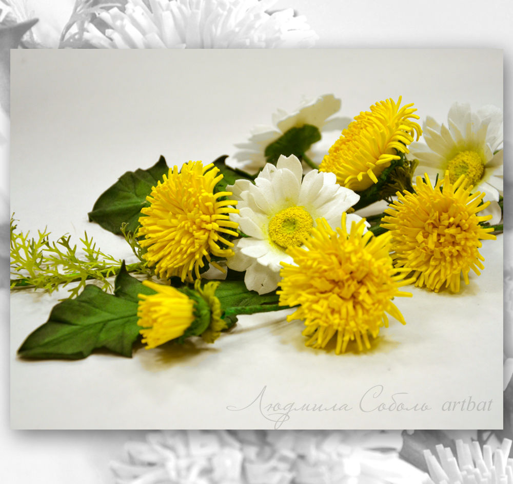 фоамиран, цветы ручной работы, цветы из фоамирана, людмила соболь, ручная работа, подарок, подарок девушке