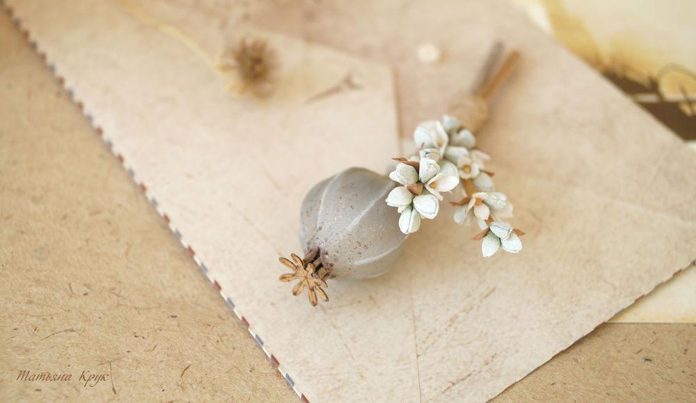 брошь цветок, украшение ручной работы