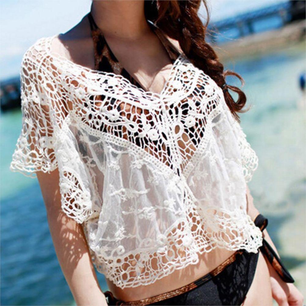 Белое бохо, или Шикарная одежда для королевы летнего пляжа, фото № 122