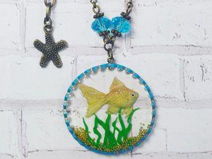Видеоурок: создаём кулон «Золотая рыбка». Ярмарка Мастеров - ручная работа, handmade.