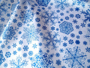 Новогодняя ткань со снежинками.. Ярмарка Мастеров - ручная работа, handmade.
