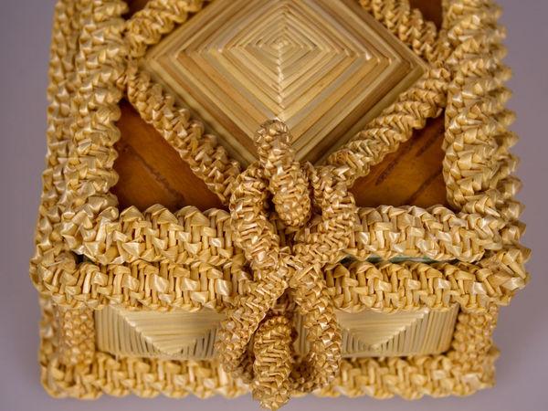 Шкатулка из соломки | Ярмарка Мастеров - ручная работа, handmade