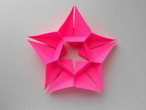 Собираем звезду из бумаги. Ярмарка Мастеров - ручная работа, handmade.