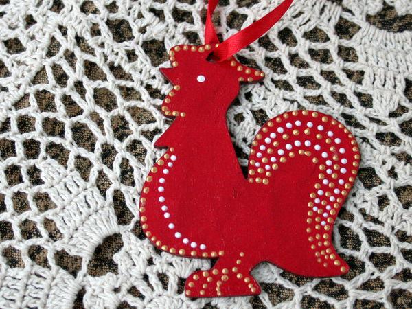 Игрушки к Новому году! Петушки | Ярмарка Мастеров - ручная работа, handmade
