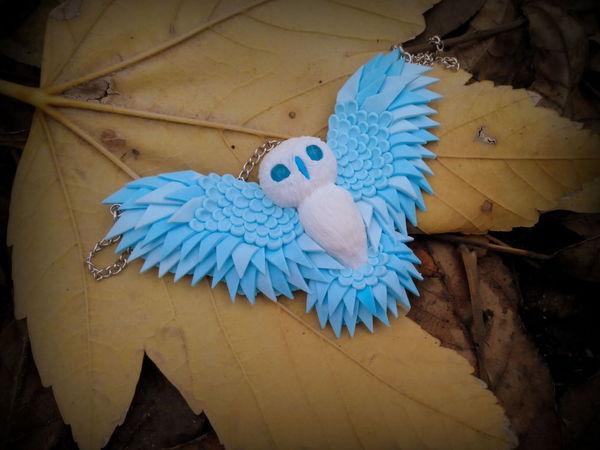 РОЗЫГРЫШ кулона Зимняя сова от мастерской Anna Koba   Ярмарка Мастеров - ручная работа, handmade