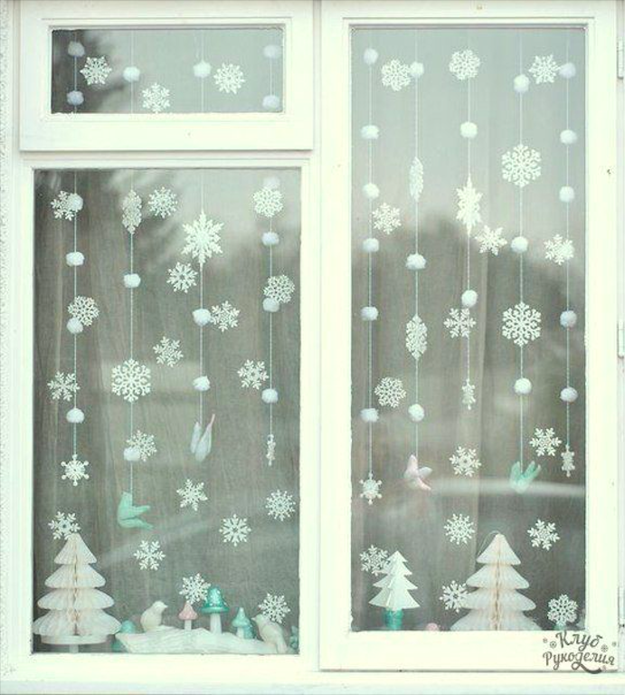 How to Decorate Windows for New Year: 20 Great Ideas, фото № 1