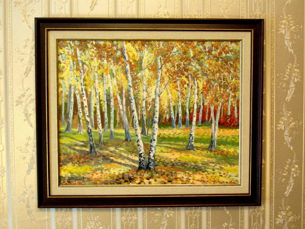 золотая осень, картина купить, авторская живопись, картина недорого