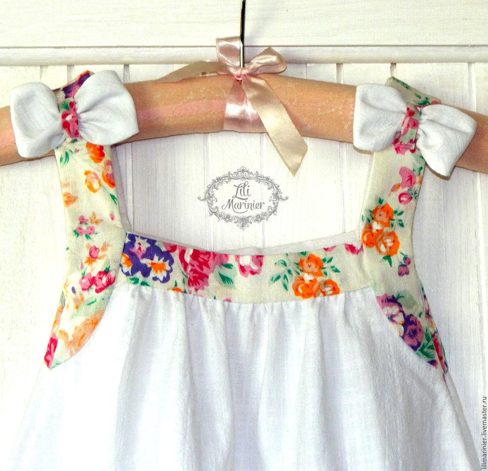 одежда, детское, лен, розовый, лето, lili marinier, вальс цветов